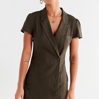 UO Clementine Double-Breasted Collared Dress | Urban Outfitters