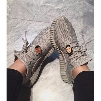 """Yeezy """"Adidas"""" Women Boost Sneakers Running Sports Shoes green"""