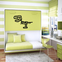 Baby Wall Decal Baby Room Kid Wall Children Wall Sticker Girl Boy Nursery Decal Baby Boy Baby Girl Tyrannosaurus Rex Skeleton Dinosaur nm163