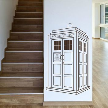ik2248 Wall Decal Sticker Time Machine Spaceship tardis doctor who living