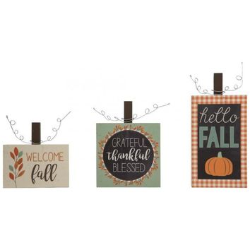 Thanksgiving Fall Welcome Signs Set