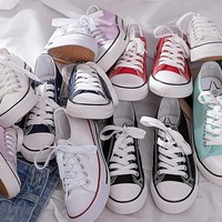 New shoe of small white sail cloth shoe female classic type board shoe harajuku is mixed with lover board shoes
