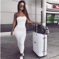 Slim Summer Women's Fashion Sexy 6-color One Piece Dress [1914361380918]