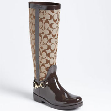 COACH 'Lux' Rain Boot (Women) | Nordstrom