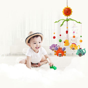 TOKKY Mobile Baby Crib Bell Wind-up Music Cute Toy Cartoon Rotate Bed Bell Nursery with NEW Retail Box Baby Gift