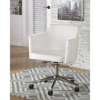 H410-01A Baraga Home Office Swivel Desk Chair - White - Free Shipping!