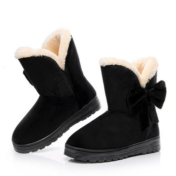 Bowtie Winter Boots