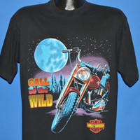 90s Harley Davidson Call Of The Wild t-shirt Large