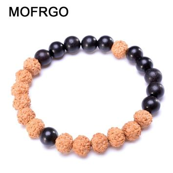 Natural Wood Bracelet Multi Color Healing Yoga Beads Bracelet Tibetan Buddhist Meditation Pray Chakra Bracelets For Men Women
