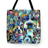 Dog Lovers Delight - Sharon Cummings Tote Bag