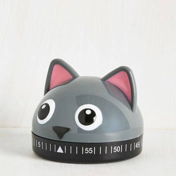 It's a Done Meal Kitchen Timer in Kitty | Mod Retro Vintage Kitchen | ModCloth.com
