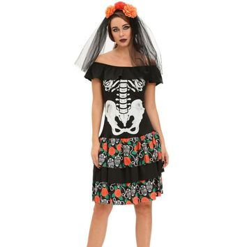 Adult Halloween Costumes for Women Queen of The Dead Halloween Party Pokemon Cosplay Costume SA89007