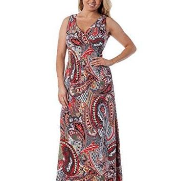 Womens Sleeveless ALine Maxi Dress