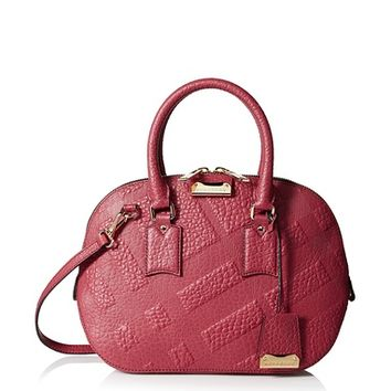 Burberry Women's Small Orchard Satchel, Dark Plum at MYHABIT