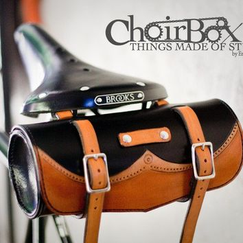 Leather Bicycle Handlebar or Saddle Bag
