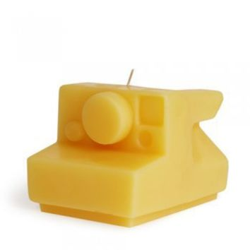 Beeswax Candle: Instant Camera