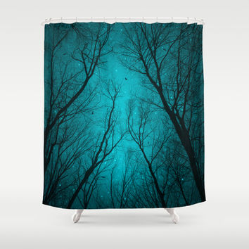 Endure the Darkness (Night Trees Silhouette 2) Shower Curtain by soaring anchor designs ⚓ | Society6