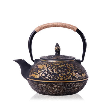 Authentic Cast Iron Teapot Set Japanese Tea Pot Tetsubin Kettle Drinkware 900ml Kung Fu Infusers Metal Net Filter Cooking Tools