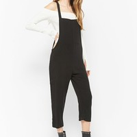 Woven Cropped Overalls
