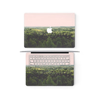 Forest View Apple MacBook Keyboard Keys Top Front Lid Cover Decal Skin Sticker Protector Air Pro Retina Touch Bar | 3M | 11 12 13 15 17 inch