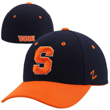 Zephyr Syracuse Orange Pursuit Two-Tone Flex Hat - Navy Blue