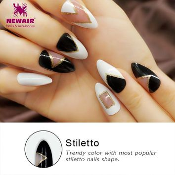 Full Cover Stiletto False Nails Sexy Acrylic Long Fake Nail Tips UV  Long Artificial Fuax Ongles Nail Art High Quality