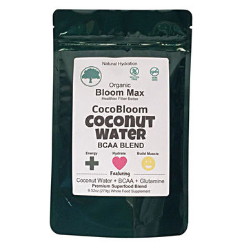 Vegan BCAA - Workout Recovery Supplement - Organic Coconut Water + Glutamine