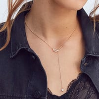 Crystal Celestial Lariat Necklace | Urban Outfitters