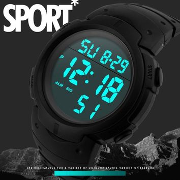 Fashion  LED Digital men waterproof sport style watch