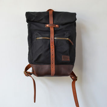Bradley Mountain Biographer Backpack Black [Biographer Pack - Black] : ORN HANSEN, Vintage + American Made General Store