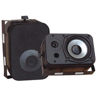 "Pyle 5.25"" Indoor And Outdoor Waterproof Speakers (black)"