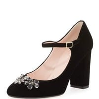 ballina crystal velvet mary jane pump, black