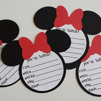 DIY Minnie Mouse Invitations With Envelopes, Minnie Mouse Ears With Bow, Minnie Mouse Birthday Party