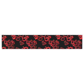 "Mydeas ""Sweetheart Damask Black & Red"" Pattern Table Runner"