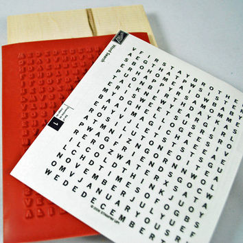 """Stampin Up Stamp Set -  Rubber Stamp Great Background """"Word Search""""  - 2006 Retired Set for Scrapbooking. Cardmaking, Collage"""