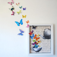 Mad Tea Party Tea Time Butterfly Print- 2 sizes Available