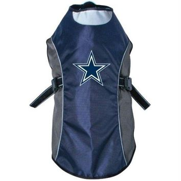 DCCKT9W Dallas Cowboys Water Resistant Reflective Pet Jacket