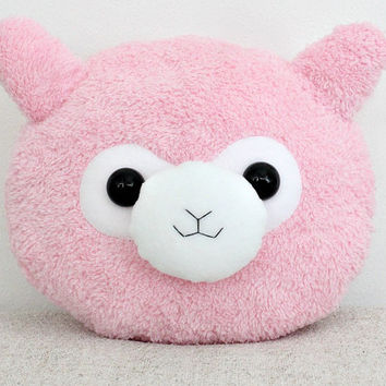 Kawaii Alpaca Pillow Alpaca Cushion Plushie Plush Llama Cute Pillow Pink Kawaii Pillow Birthday Gift Children's Gift Gift For Her