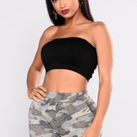 Take It All Tube Bandeau - Black