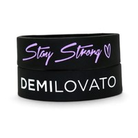 Stay Strong Demi Lovato Wristband BLACK
