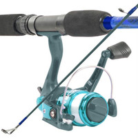 South Bend Worm Gear Fishing Rod & Spinning Reel (Blue) Comb
