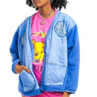 Vintage 90's Denim Mix Granny Jacket - One Size Fits Many