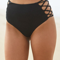 Young and Reckless x PacSun Strappy High Rise Bikini Bottom at PacSun.com