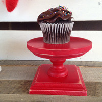 Red cupcake stand individual peseta all cupcake stand party decor dessert table candle holder pedest