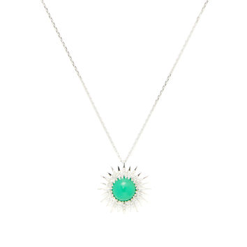 Anzie Women's Chrysoprase & Silver Milly Pendant Necklace - Green