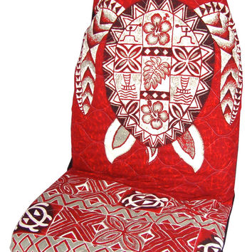 Red Sea Turtle (Honu) Hawaiian Car Seat Cover