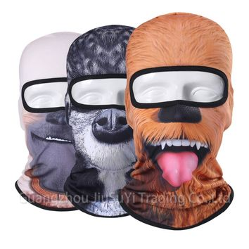 3D Animal Face Mask Bicycle Balaclava Motorcycle Hats Winter Warmer Party Halloween Full Face Mask Cat Dog