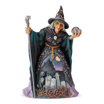 Jim Shore HWC Witch with Crystal Ball - 6004326