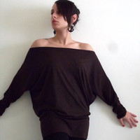Brown Maternity Tunic/ Top  Oversize Brown Maternity