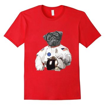 Pug Astronaut Space Dog T-Shirt